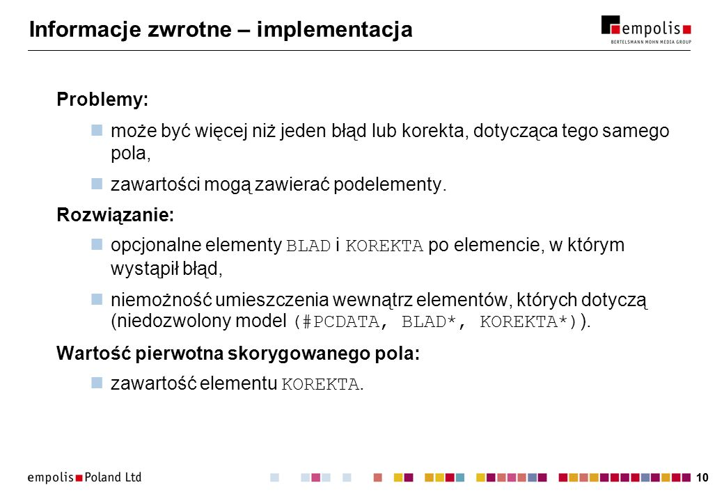 Informacje zwrotne – implementacja