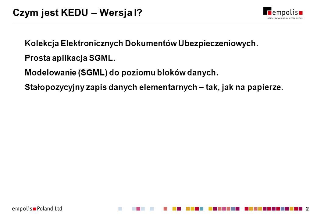 Czym jest KEDU – Wersja I