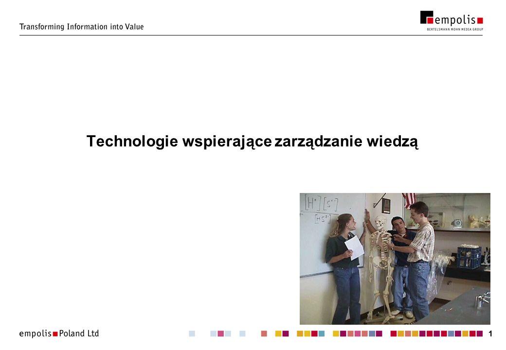 Technologie wspierające zarządzanie wiedzą
