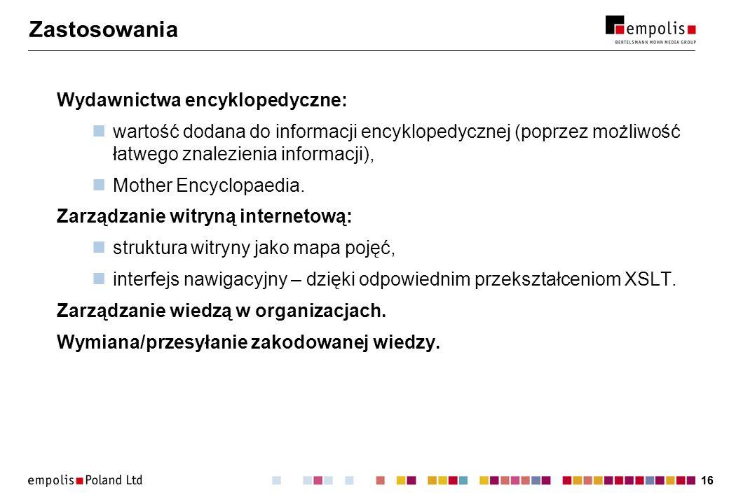 Zastosowania Wydawnictwa encyklopedyczne: