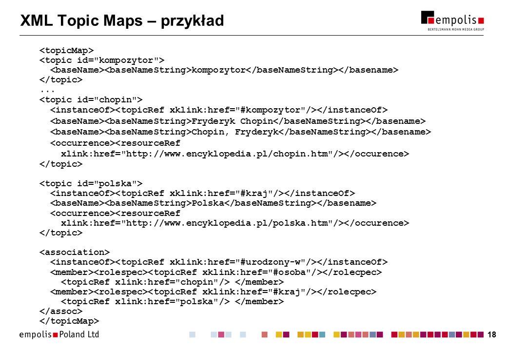 XML Topic Maps – przykład