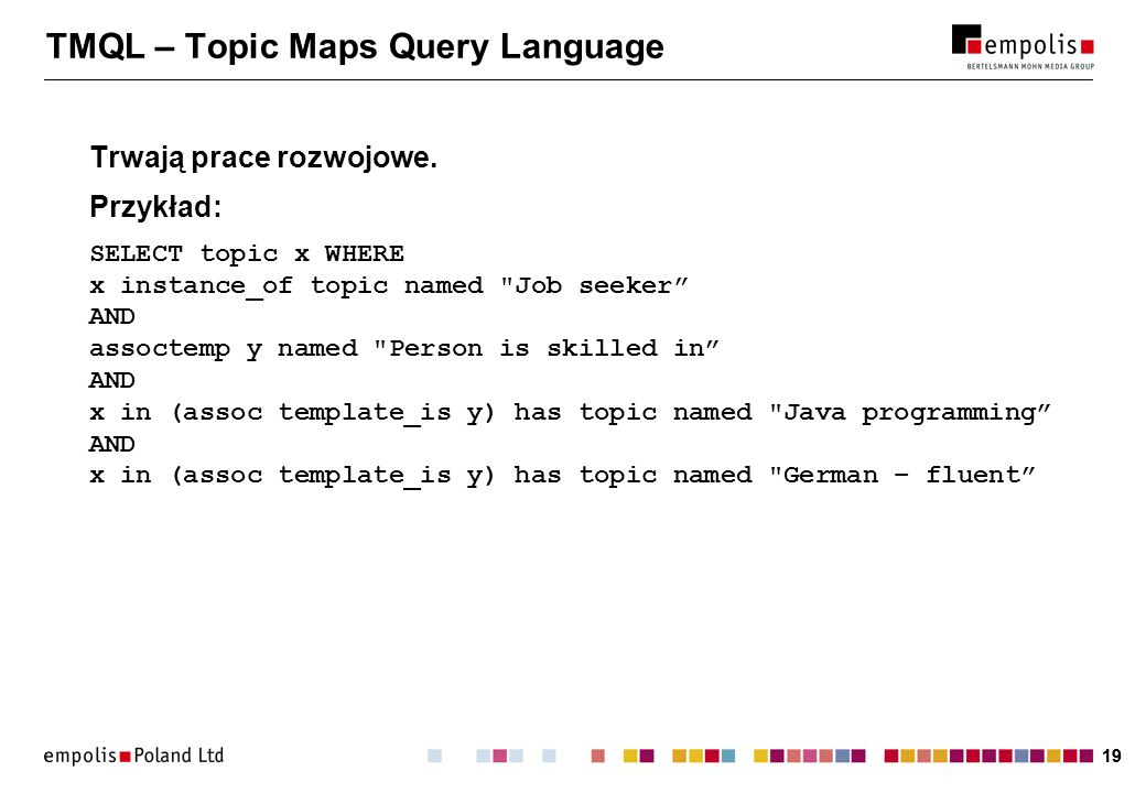 TMQL – Topic Maps Query Language
