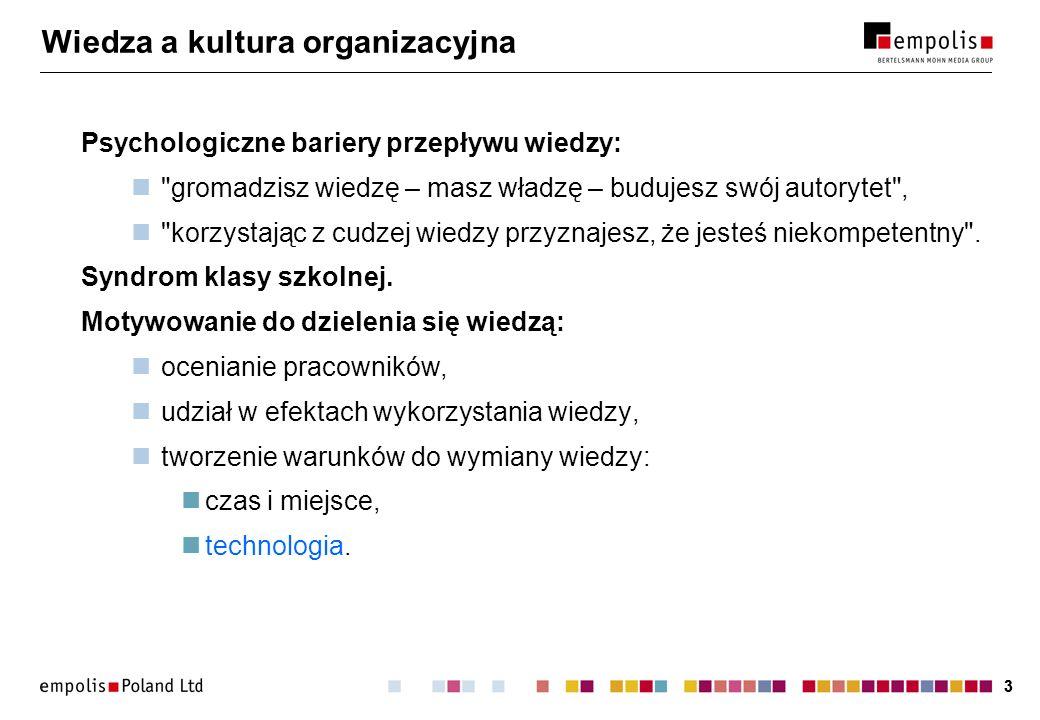 Wiedza a kultura organizacyjna