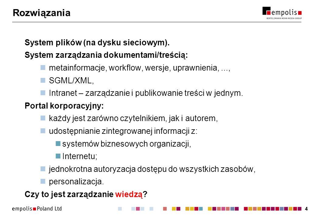 Rozwiązania System plików (na dysku sieciowym).