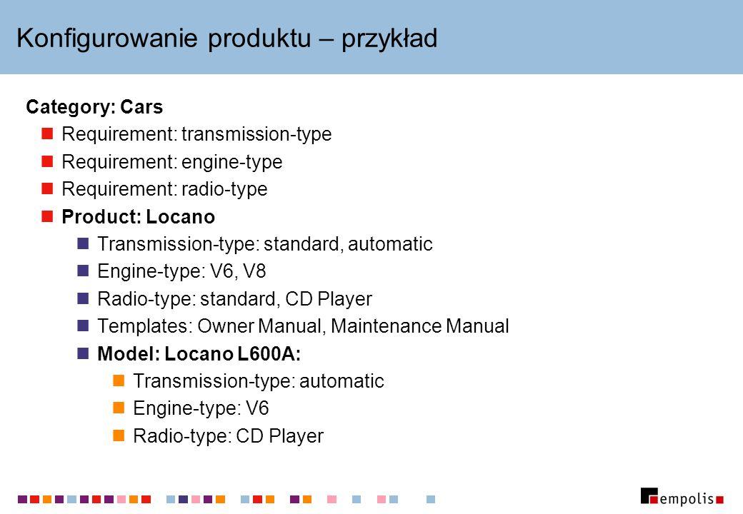 Konfigurowanie produktu – przykład