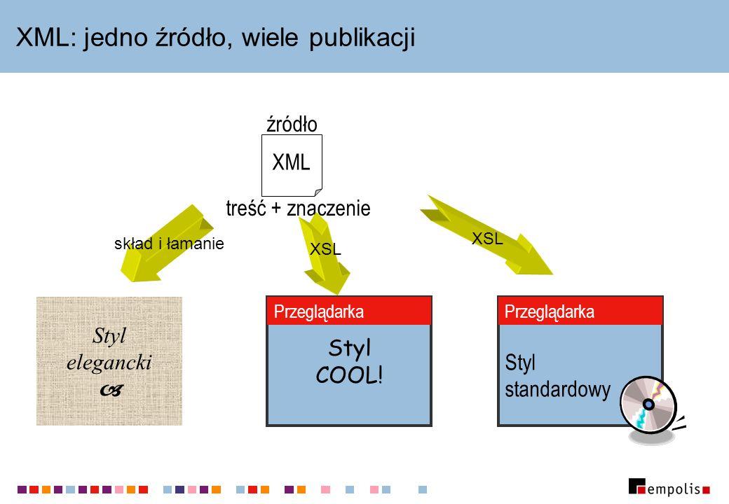 XML: jedno źródło, wiele publikacji