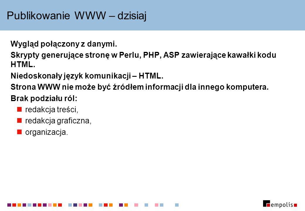 Publikowanie WWW – dzisiaj