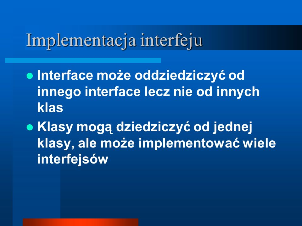 Implementacja interfeju