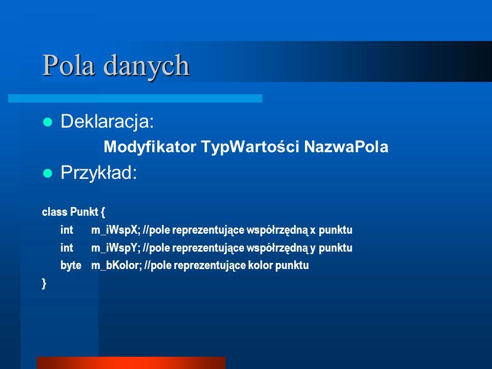Modyfikator TypWartości NazwaPola