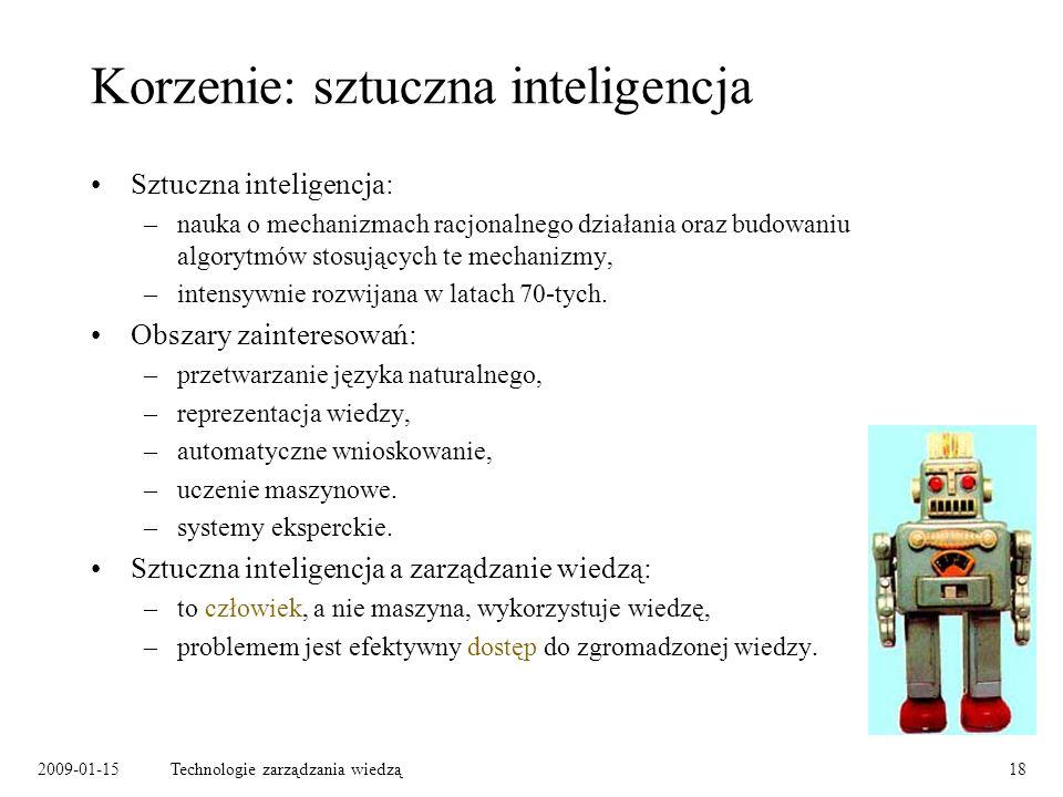 Korzenie: sztuczna inteligencja