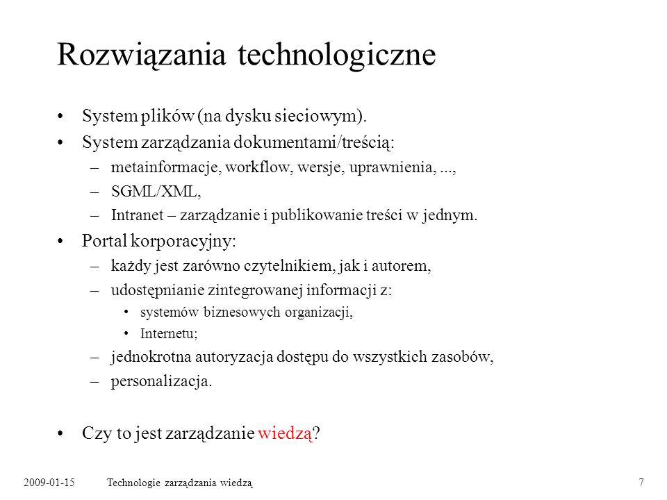 Rozwiązania technologiczne