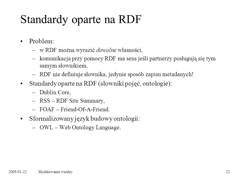 Standardy oparte na RDF