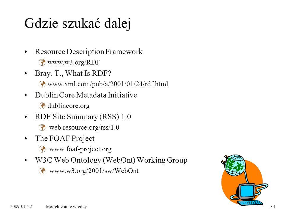 Gdzie szukać dalej Resource Description Framework