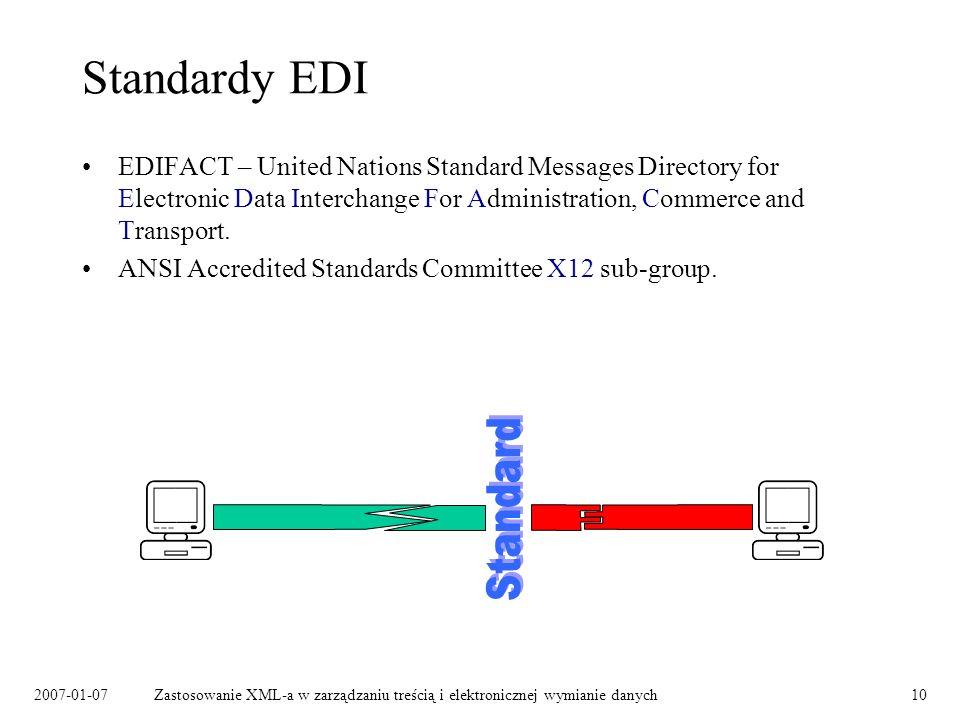 Standardy EDI Standard