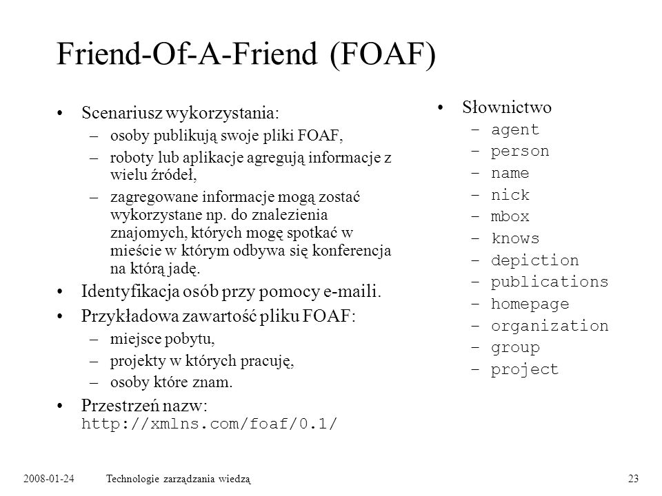 Friend-Of-A-Friend (FOAF)