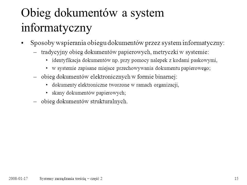 Obieg dokumentów a system informatyczny