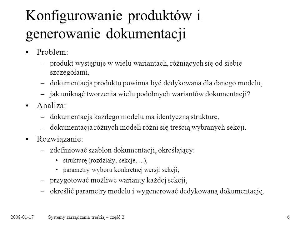 Konfigurowanie produktów i generowanie dokumentacji