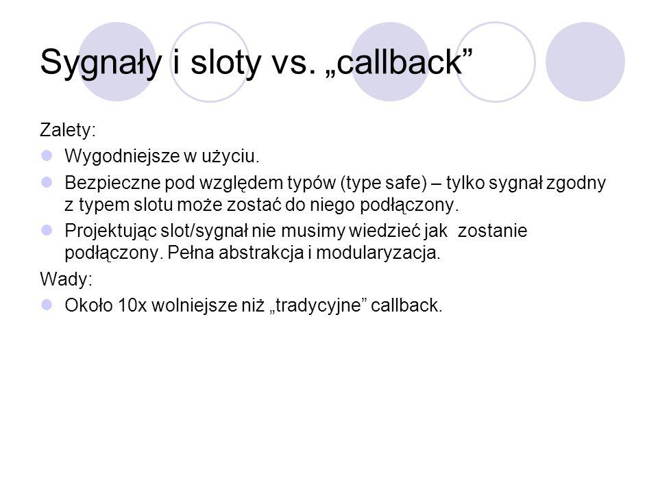 """Sygnały i sloty vs. """"callback"""