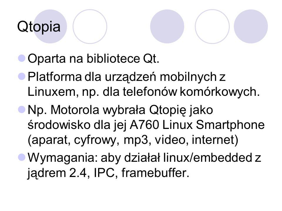 Qtopia Oparta na bibliotece Qt.