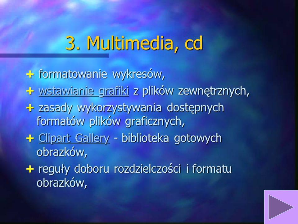 3. Multimedia, cd + formatowanie wykresów,