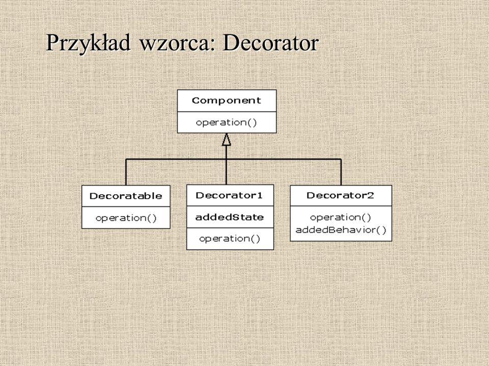 Przykład wzorca: Decorator