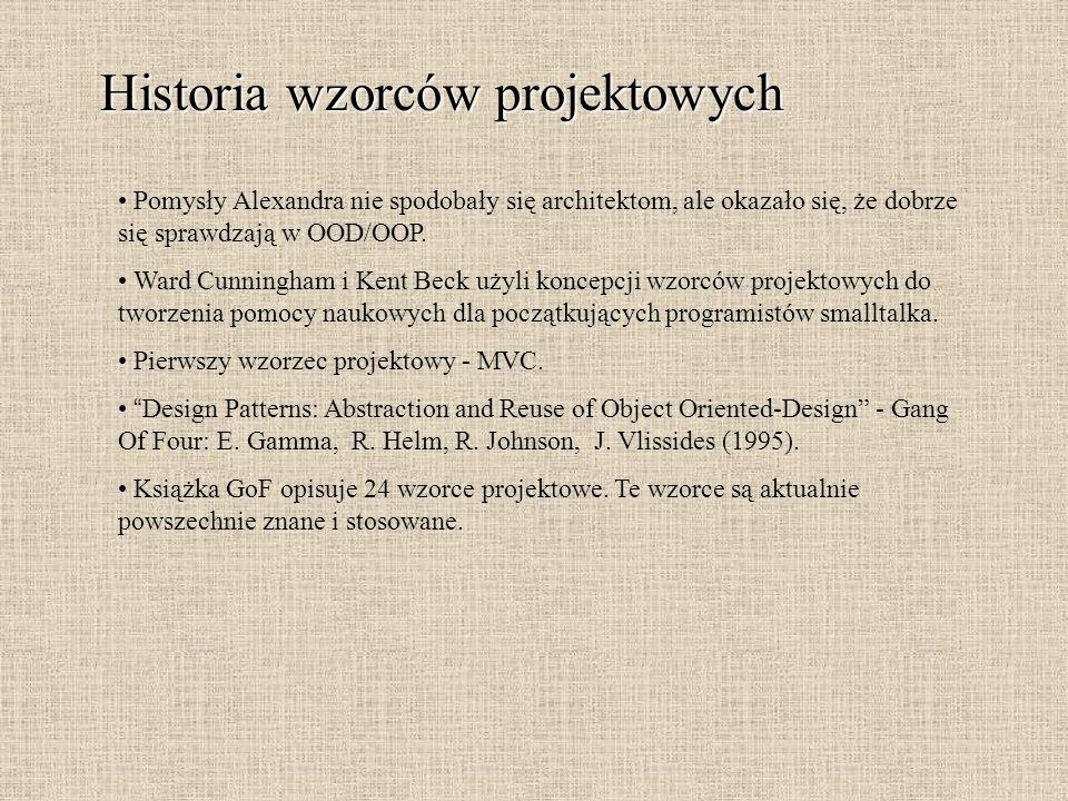 Historia wzorców projektowych
