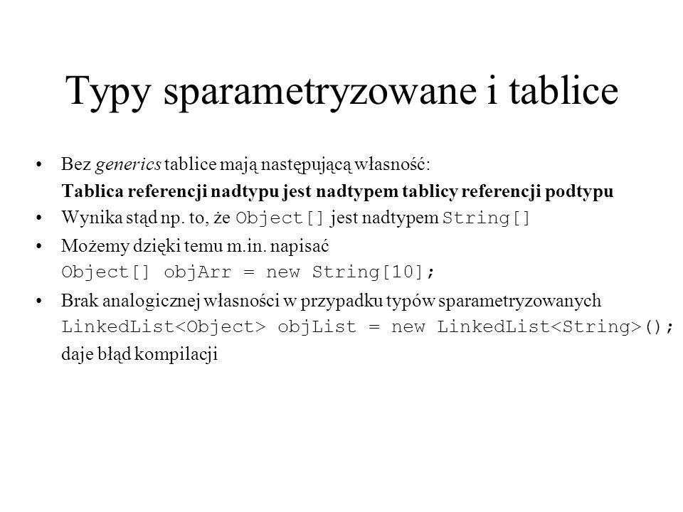 Typy sparametryzowane i tablice