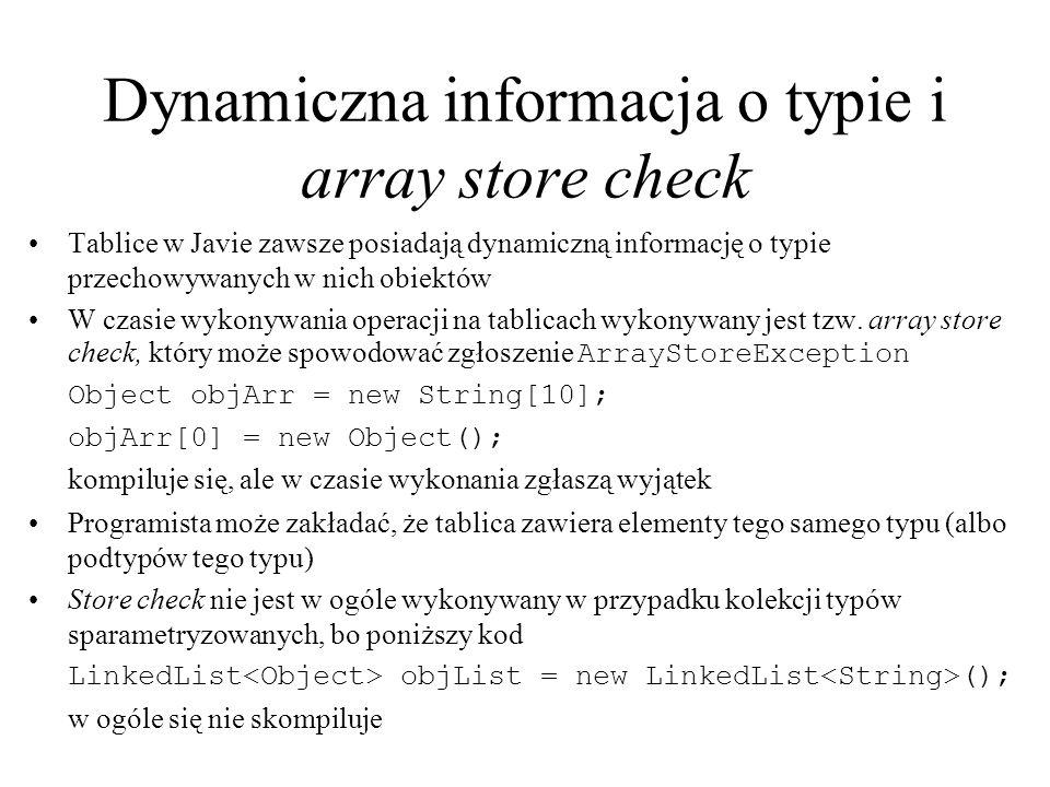 Dynamiczna informacja o typie i array store check