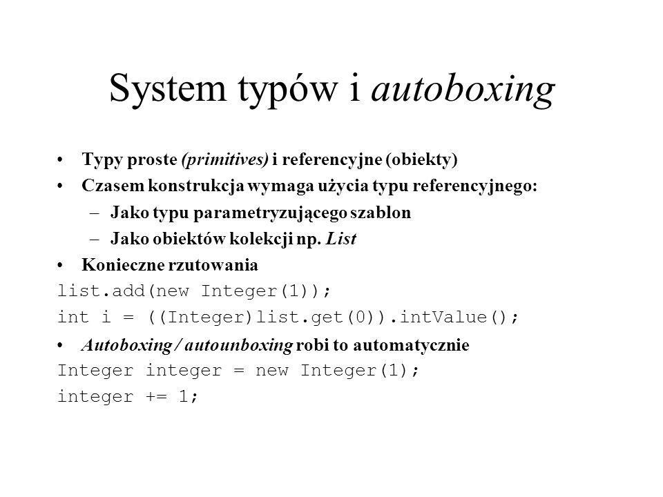 System typów i autoboxing