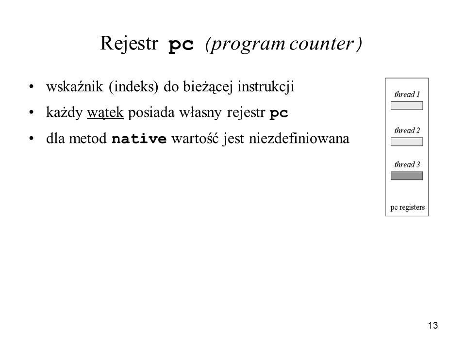 Rejestr pc (program counter)