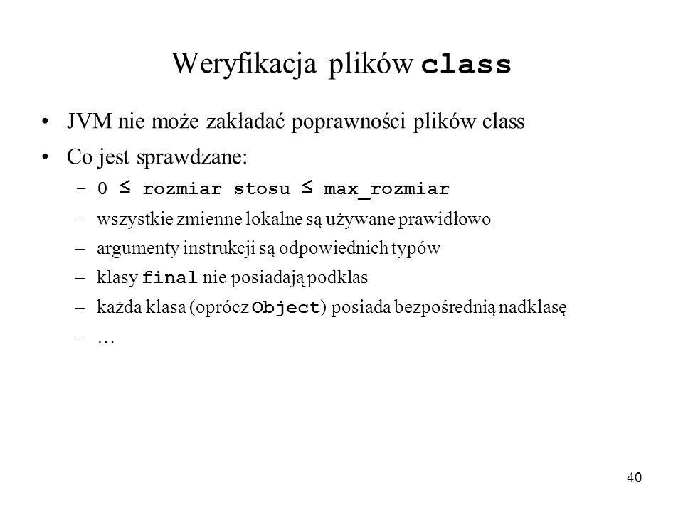 Weryfikacja plików class