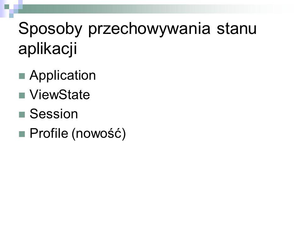 Sposoby przechowywania stanu aplikacji
