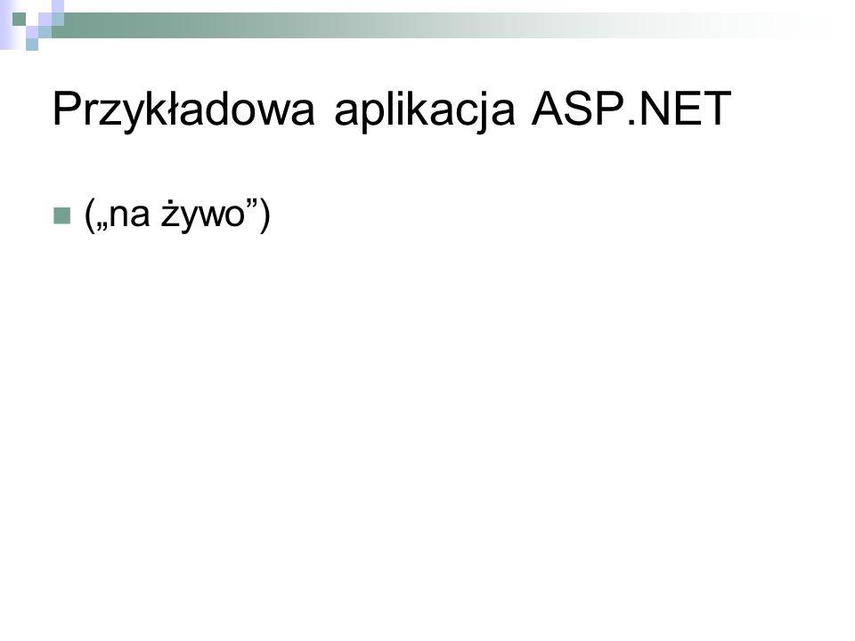 Przykładowa aplikacja ASP.NET