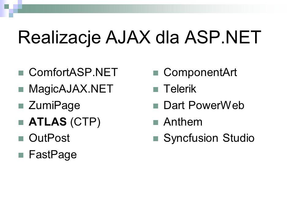 Realizacje AJAX dla ASP.NET