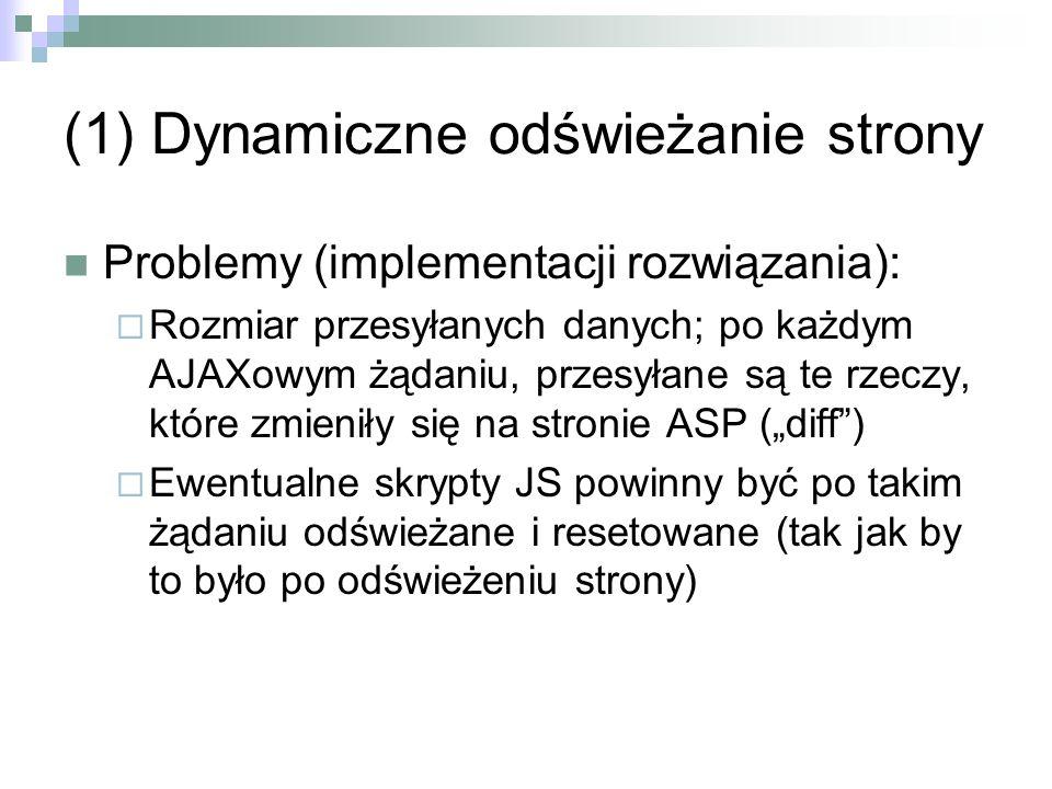 (1) Dynamiczne odświeżanie strony