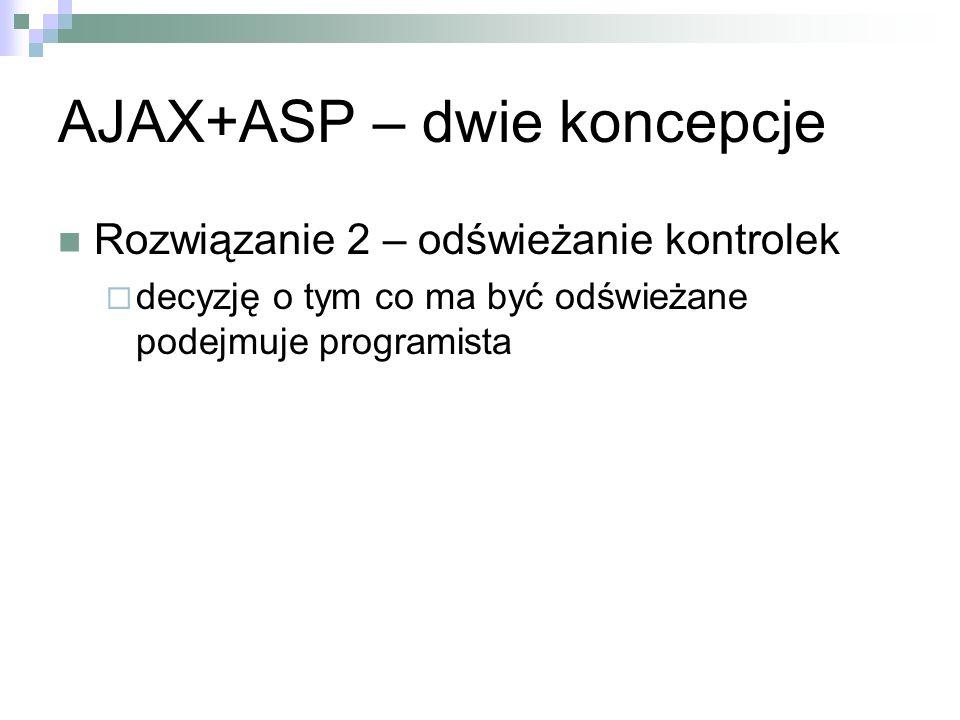 AJAX+ASP – dwie koncepcje