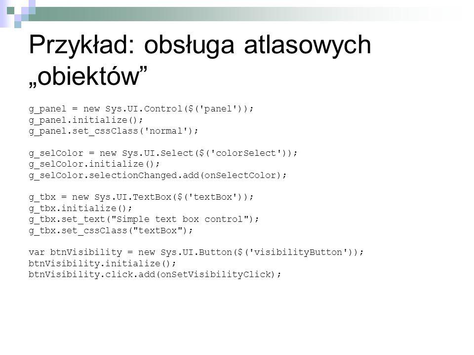 """Przykład: obsługa atlasowych """"obiektów"""