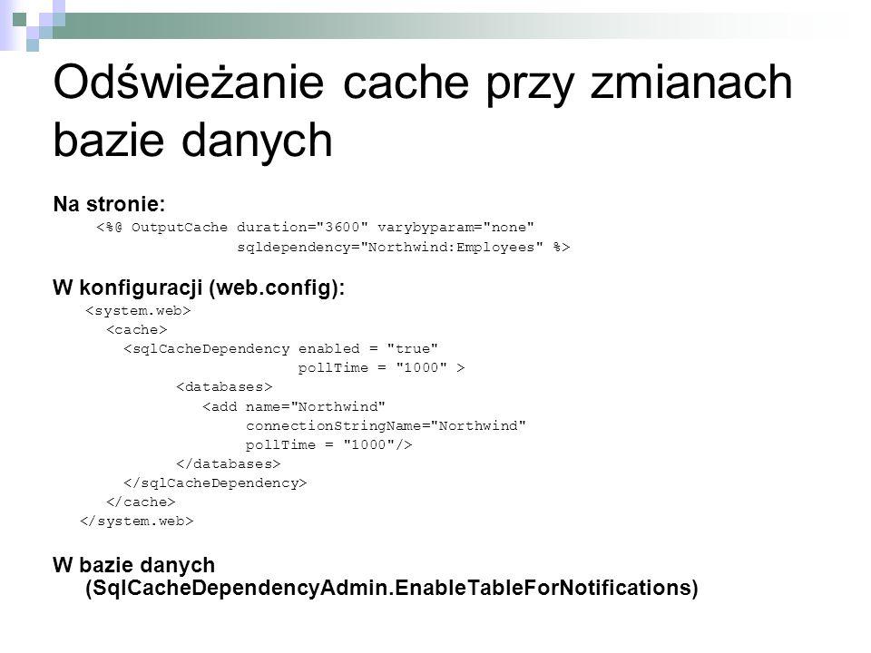 Odświeżanie cache przy zmianach bazie danych