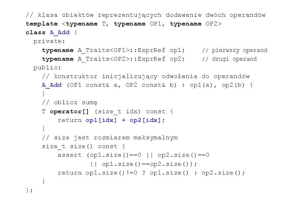 // klasa obiektów reprezentujących dodawanie dwóch operandów