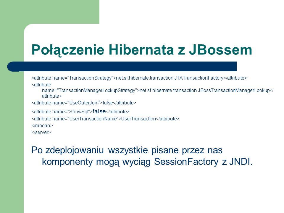 Połączenie Hibernata z JBossem