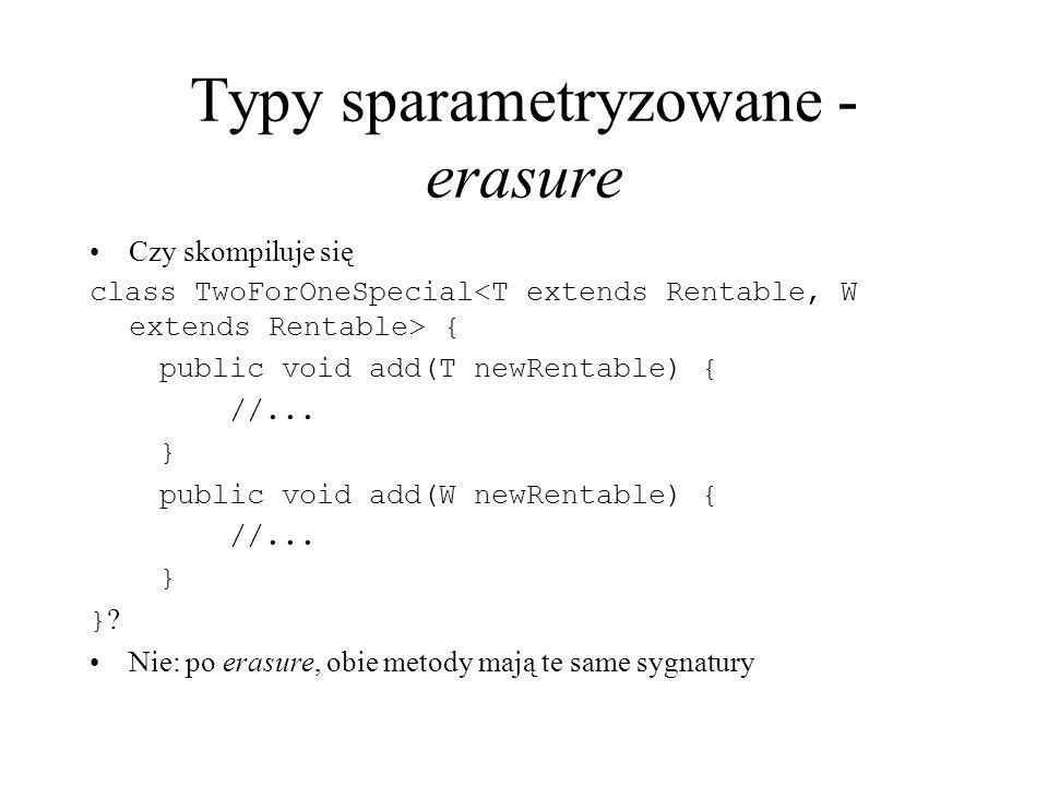 Typy sparametryzowane - erasure