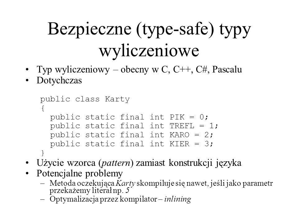 Bezpieczne (type-safe) typy wyliczeniowe