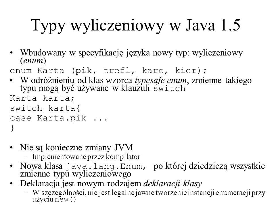Typy wyliczeniowy w Java 1.5