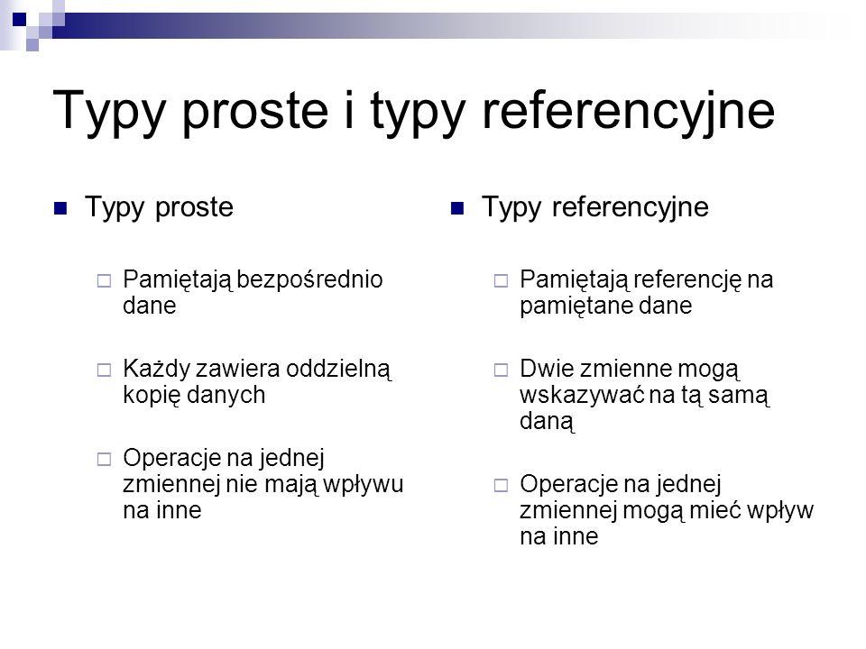 Typy proste i typy referencyjne