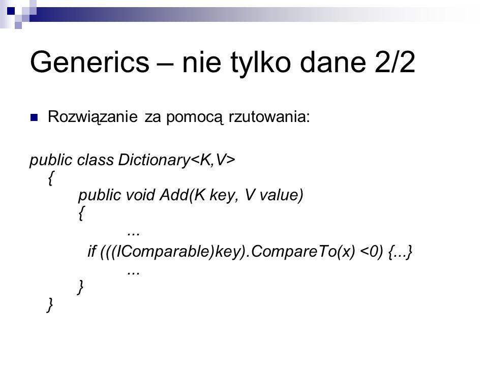 Generics – nie tylko dane 2/2