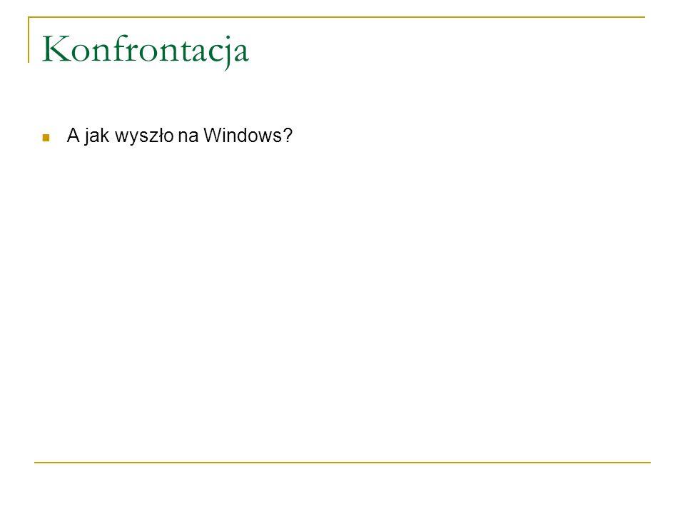 Konfrontacja A jak wyszło na Windows