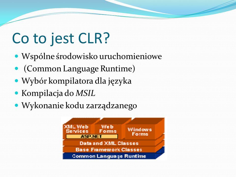 Co to jest CLR Wspólne środowisko uruchomieniowe