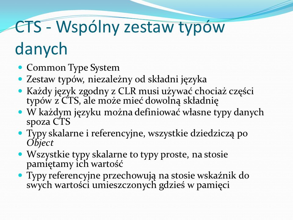 CTS - Wspólny zestaw typów danych