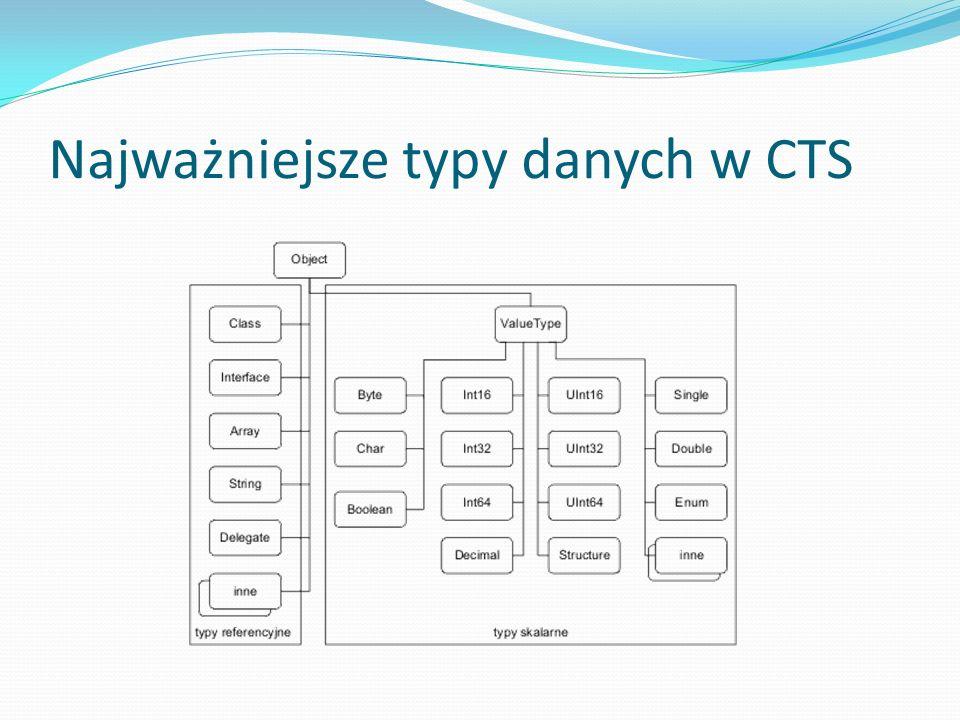 Najważniejsze typy danych w CTS