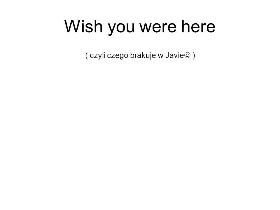 ( czyli czego brakuje w Javie )